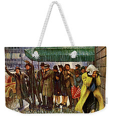 1947 Saturday Evening Post Magazine Cover Weekender Tote Bag