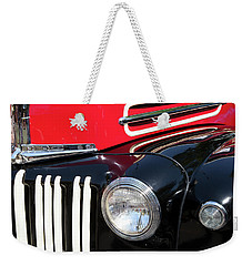 Weekender Tote Bag featuring the photograph 1947 Vintage Ford Pickup Truck by Theresa Tahara