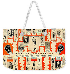 1947 World Champions And Past Greats Of The Prize Ring Weekender Tote Bag