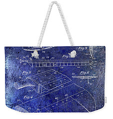 1949 Helicopter Patent Blue Weekender Tote Bag