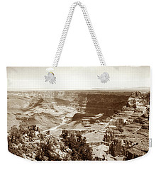 Weekender Tote Bag featuring the photograph 1950 Grand Canyon Desert Point by Marilyn Hunt