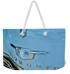 Weekender Tote Bag featuring the photograph 1950 Plymouth Coupe by Linda Unger