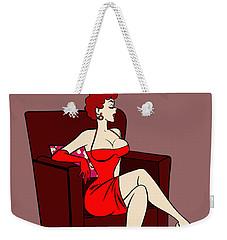 1950s Cartoon Pinup Girl Weekender Tote Bag