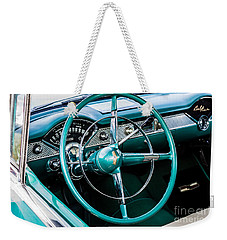 Weekender Tote Bag featuring the photograph 1955 Chevrolet Bel Air by M G Whittingham