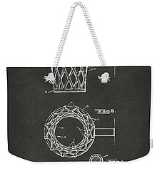 1951 Basketball Net Patent Artwork - Gray Weekender Tote Bag