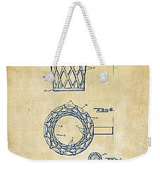 1951 Basketball Net Patent Artwork - Vintage Weekender Tote Bag
