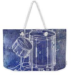 1951 Drum Kit Patent Blue Weekender Tote Bag