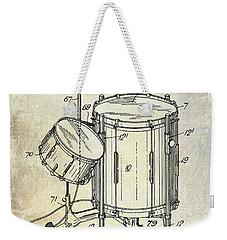 1951 Drum Kit Patent  Weekender Tote Bag by Jon Neidert