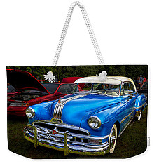 1952 Blue Pontiac Catalina Chiefton Classic Car Weekender Tote Bag