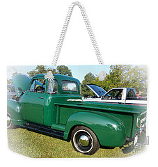 Weekender Tote Bag featuring the photograph 1952 Chevrolet by Geraldine DeBoer