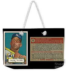 1952 Topps Mickey Mantle Rookie Card Weekender Tote Bag