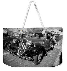 1953 Citroen Traction Avant Bw Weekender Tote Bag by Rich Franco