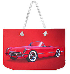 1953 Corvette Classic Vintage Sports Car Automotive Art Weekender Tote Bag by John Samsen