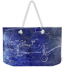 1953 Helicopter Patent Blue Weekender Tote Bag