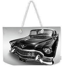 1955 Cadillac Black And White Weekender Tote Bag by Gill Billington