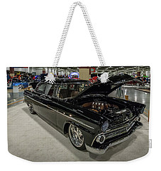 Weekender Tote Bag featuring the photograph 1955 Ford Customline by Randy Scherkenbach