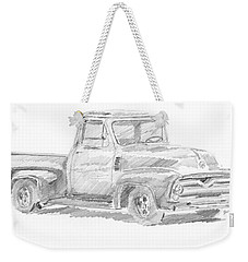 1955 Ford Pickup Sketch Weekender Tote Bag