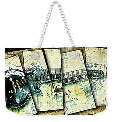 1955 Les Paul Custom Black Beauty V2 Weekender Tote Bag by Gary Bodnar