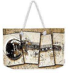 1955 Les Paul Custom Black Beauty V5 Weekender Tote Bag by Gary Bodnar