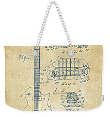 1955 Mccarty Gibson Les Paul Guitar Patent Artwork Vintage Weekender Tote Bag