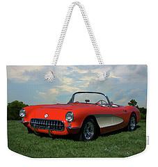 1956 Corvette Weekender Tote Bag