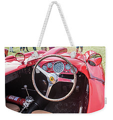 Weekender Tote Bag featuring the photograph 1956 Ferrari 290mm - 4 by Randy Scherkenbach