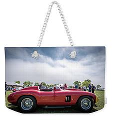 Weekender Tote Bag featuring the photograph 1956 Ferrari 290mm by Randy Scherkenbach