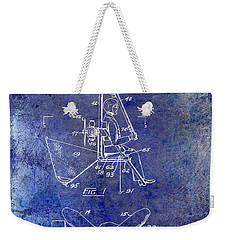 1956 Helicopter Patent Blue Weekender Tote Bag by Jon Neidert