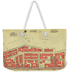 Weekender Tote Bag featuring the photograph 1956 Inwood Map  by Cole Thompson