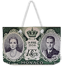 1956 Princess Grace Of Monaco Stamp II Weekender Tote Bag by Bill Owen