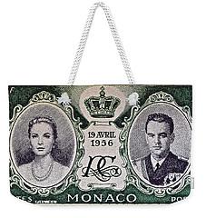 1956 Princess Grace Of Monaco Stamp II Weekender Tote Bag by Bill Owen