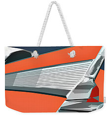 1957 Chevy Art Design By John Foster Dyess Weekender Tote Bag
