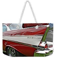 1957 Chevy Bel Air Weekender Tote Bag by Linda Bianic