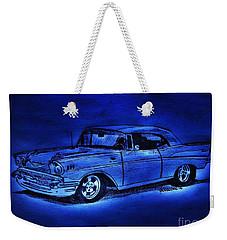 1957 Chevy Bel Air - Moonlight Cruisin  Weekender Tote Bag