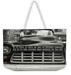 1957 Chevy Quote Weekender Tote Bag by JAMART Photography