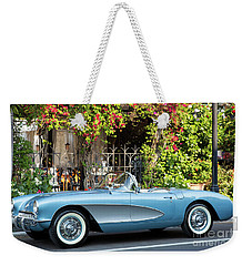Weekender Tote Bag featuring the photograph 1957 Corvette by Brian Jannsen