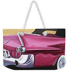 1957 Eldorado-red Weekender Tote Bag