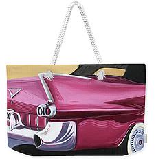 1957 Eldorado-red Weekender Tote Bag