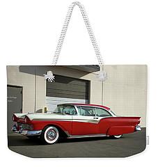 1957 Ford Fairlane Custom Weekender Tote Bag