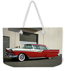 Weekender Tote Bag featuring the photograph 1957 Ford Fairlane Custom by Tim McCullough