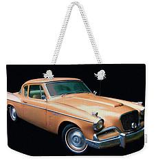 1957 Studebaker Golden Hawk Digital Oil Weekender Tote Bag