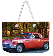 1957 Thunderbird  003 Weekender Tote Bag by George Bostian