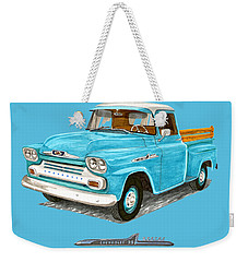 1958 Apache Pick Up Truck Weekender Tote Bag