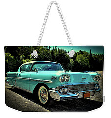 1958 Chevrolet Impala Weekender Tote Bag by David Patterson