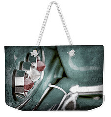 Weekender Tote Bag featuring the photograph 1958 Chevrolet Impala Taillight -0544ac by Jill Reger