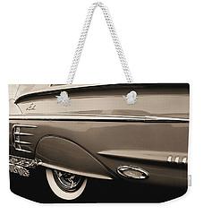 1958 Chevy Impala  Weekender Tote Bag