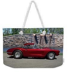 1958 Corvette Weekender Tote Bag