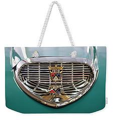 Weekender Tote Bag featuring the digital art 1958 Ford Fairlane Sunliner Intake by Chris Flees