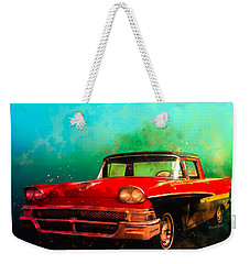 1958 Ford Ranchero Watercolour Weekender Tote Bag