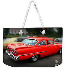 1958 Red Classic Weekender Tote Bag